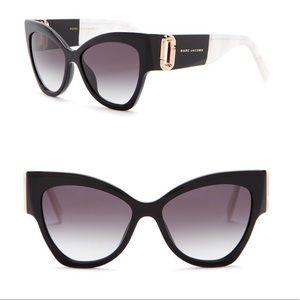 Marc Jacobs 55mm Cateye Sunglasses Black & Pearl